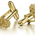 Cufflinks: Gold Golden Protea