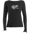 Ladies' black T-shirt: Table Mountain Ghost Frog