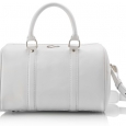 Ladies small white leather doctor's bag