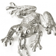 Neckpiece: Small Silver Ghost Frog