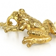 Neckpiece: Small Yellow Gold Ghost Frog