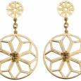 Earrings: Gold Geometric Tortoise