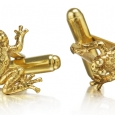Cufflinks: Gold Ghost Frogs